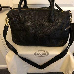 Fossil  Black Satchel Handbag